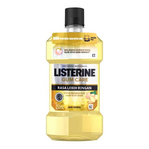 Listerine Gum Care Mouth Wash, Herbal Ginger, 250ml