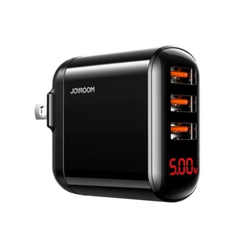 Joyroom 3.4A USB Intelligent Digital Wall Charger, Black, HKL-USB59