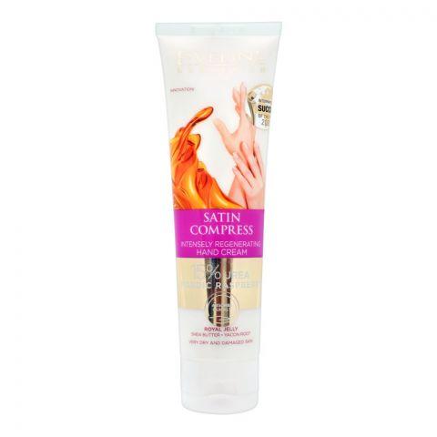 Eveline Satin Compress Intensely Regenerating Hand Cream, Very Dry & Damaged Skin, 100ml