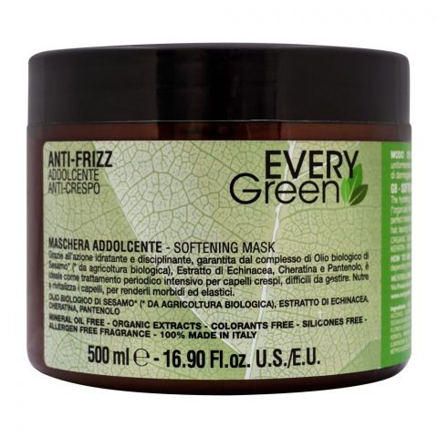Every Green Anti-Frizz Softening Hair Mask, 500ml