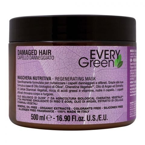 Every Green Damaged Hair Regenerating Mask, 500ml