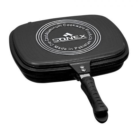 Sonex Die Cast Double Grill Pan, 30cm, 11.8 Inches, 52341