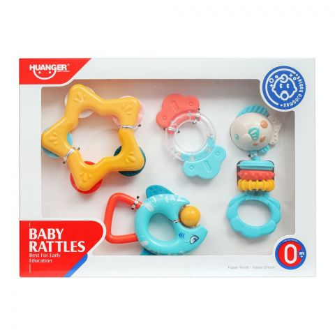 Huanger Baby Rattles, 4 Pieces, 0m+, HE0134