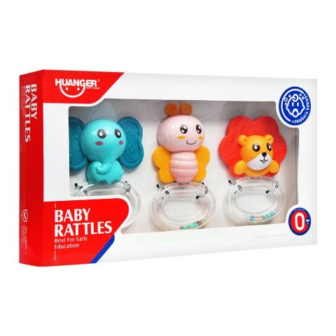 Huanger Baby Rattles, 3 Pieces, 0m+, HE0135