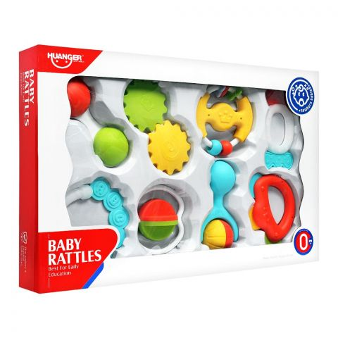 Huanger Baby Rattles, 8 Pieces, 0m+, HE0150