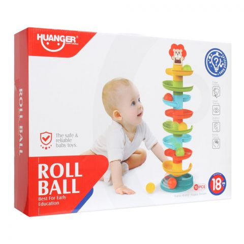 Huanger Roll Ball, 16 Pieces, 18m+, HE0292