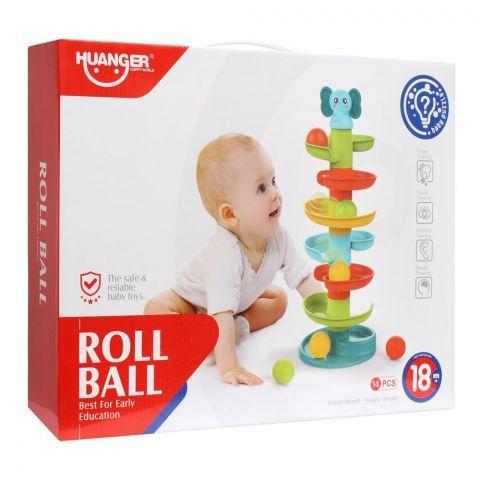 Huanger Roll Ball, 14 Pieces, 18m+, HE0293