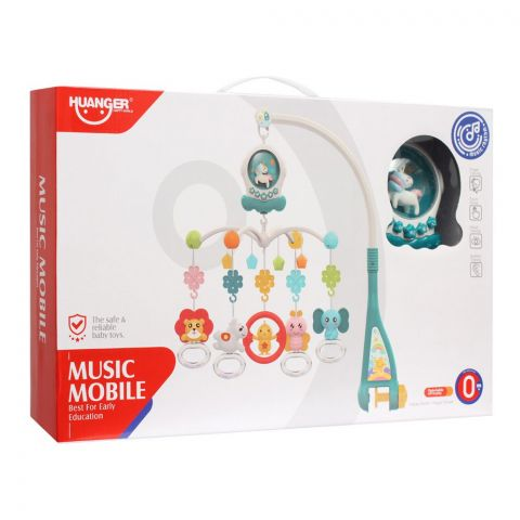 Huanger Unicorn Music Mobile, With Light & Music, 0m+, HE0311