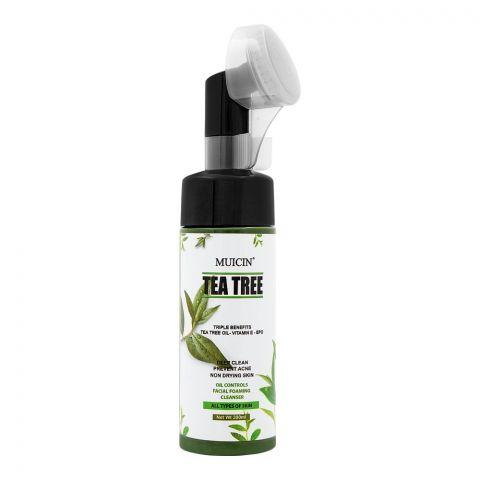 Muicin Tea Tree Deep Clean Oil Controls Facial Foaming Cleanser, All Skin Types, 200ml