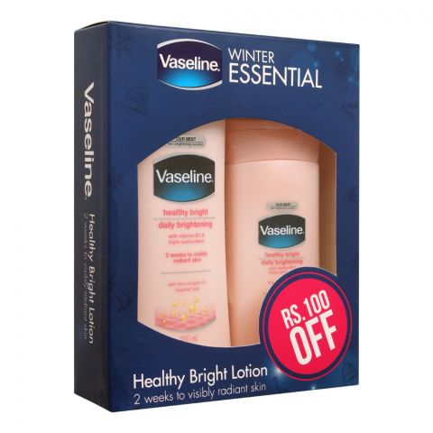 Vaseline Winter Essential Healthy Bright Lotion Pack