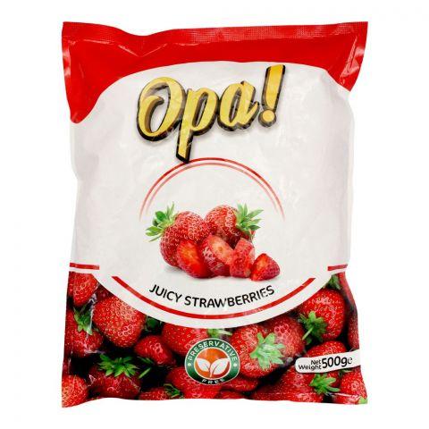 Opa! Juicy Frozen Strawberries, 500g