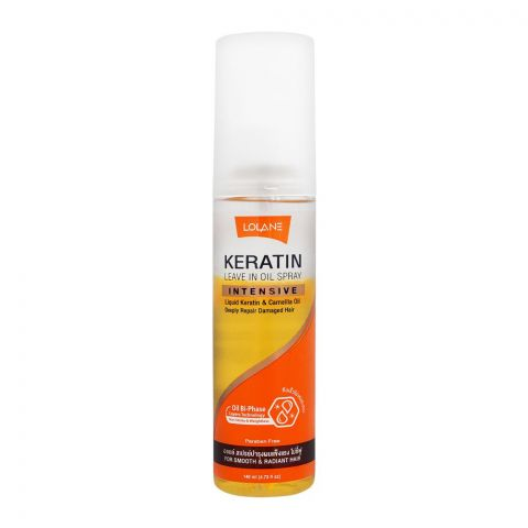 Lolane Intensive Keratin Leave In Oil Spray, Paraben Free, 140ml