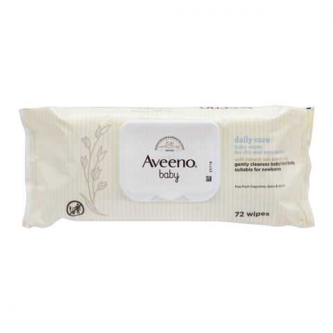 Aveeno Daily Care Face And Body Baby Wipes, 72-Pack