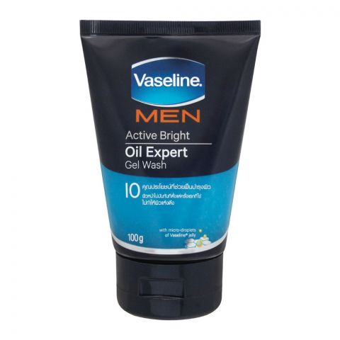 Vaseline Men Active Bright Oil Expert Gel Wash, 100g
