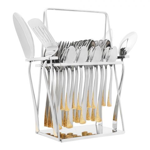 Elegant R-Training Stainless Steel Cutlery Set, 28 Pieces, EE28GS-17