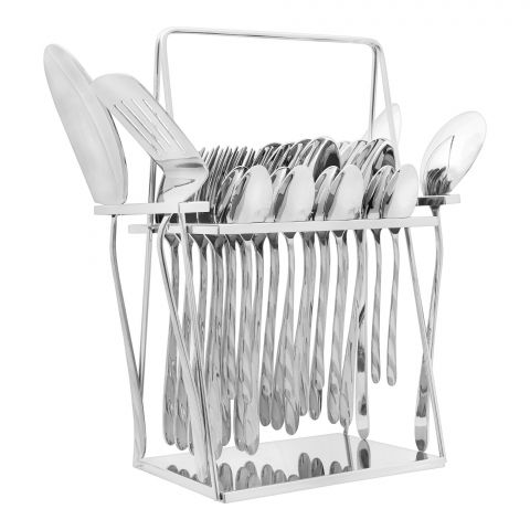 Elegant 4 Line Stainless Steel Cutlery Set, 28 Pieces, EE28SS-06