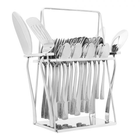 Elegant R-Training Stainless Steel Cutlery Set, 28 Pieces, EE28SS-18