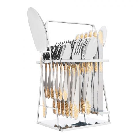 Elegant Stainless Steel Cutlery Set, 26 Pieces, FF26GS-01