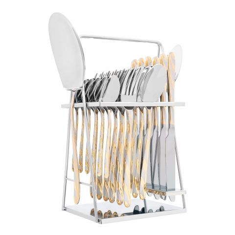 Elegant Stainless Steel Cutlery Set, 26 Pieces, FF26GS-05