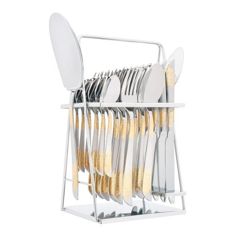 Elegant Stainless Steel Cutlery Set, 26 Pieces, FF26GS-13