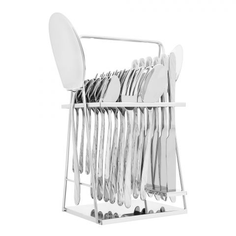 Elegant Stainless Steel Cutlery Set, 26 Pieces, FF26GS-06