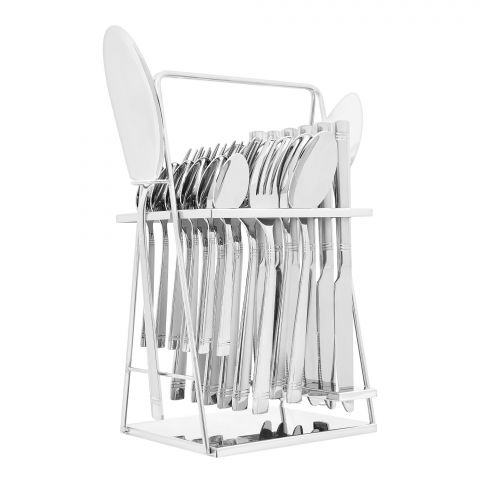 Elegant Stainless Steel Cutlery Set, 26 Pieces, FF26GS-08