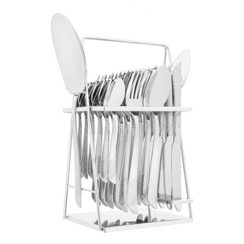 Elegant Stainless Steel Cutlery Set, 26 Pieces, FF26GS-14