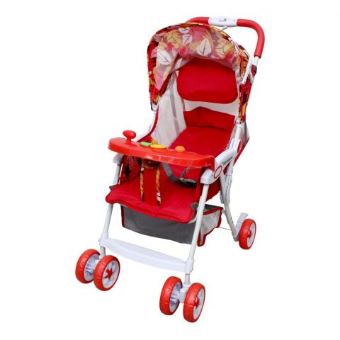Rainbow Baby Stroller, Red, 9407