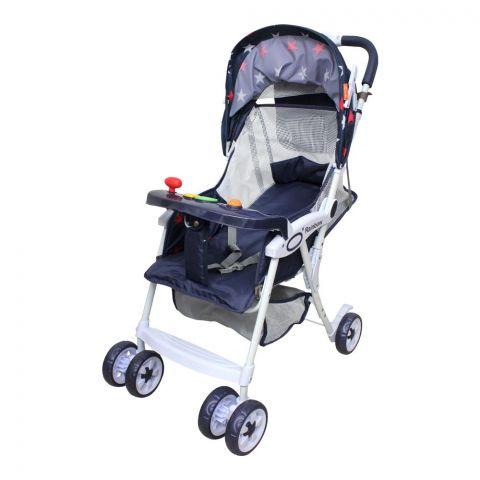 Rainbow Baby Stroller, Navy Blue, 9407