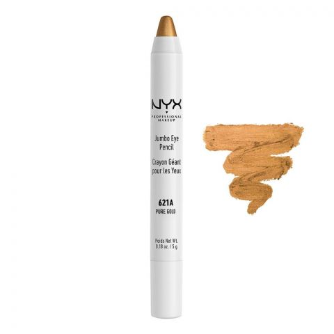 NYX Jumbo Eye Pencil, 621A Pure Gold