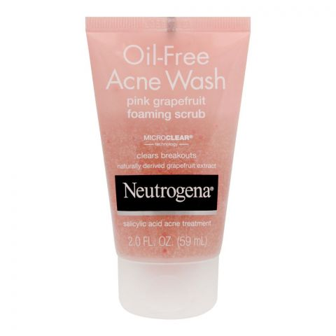 Neutrogena Oil-Free Acne Wash Pink Grapefruit Foaming Scrub, 59ml