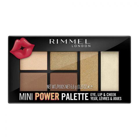 Rimmel Mini Power Palette, For Eye, Lip & Cheek, 002 Sassy