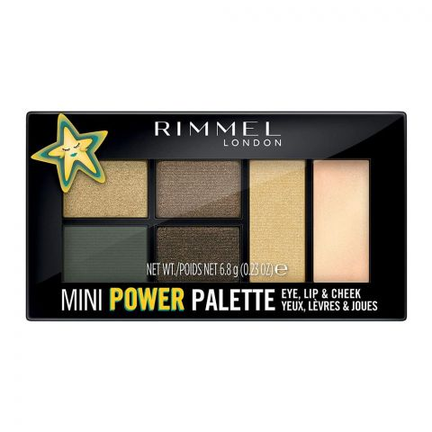 Rimmel Mini Power Palette, For Eye, Lip & Cheek, 005 Boss Babe