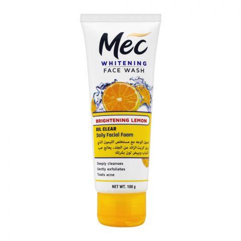 Mec Whitening Face Wash, Oil Clear Daily Facial Foam, Brightening Lemon, 100g