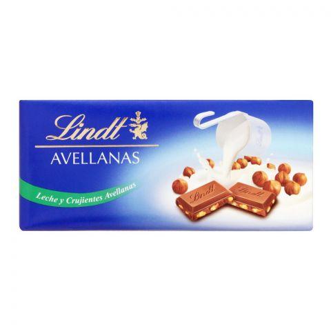Lindt Avellanas Milk And Crunchy Hazelnuts Chocolate, 110g