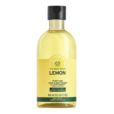 The Body Shop Lemon Purifying Hair & Body Wash, 400ml