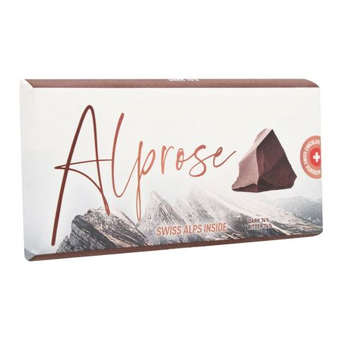 Alprose Swiss Alps Inside 74% Dark Chocolate Bar, 100g
