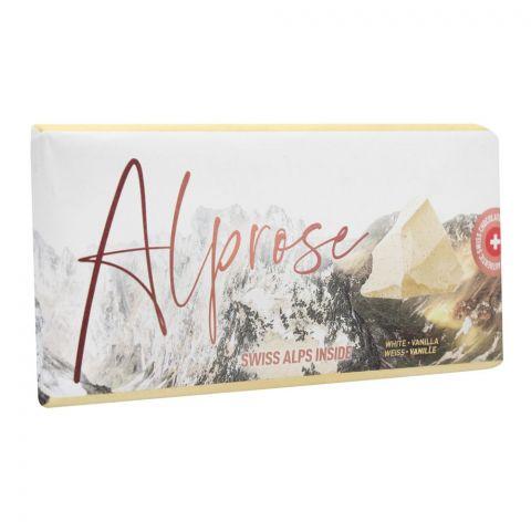 Alprose Swiss Alps Inside White Chocolate Bar, Vanilla, 100g