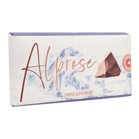 Alprose Swiss Alps Inside Milk Chocolate Bar, 100g