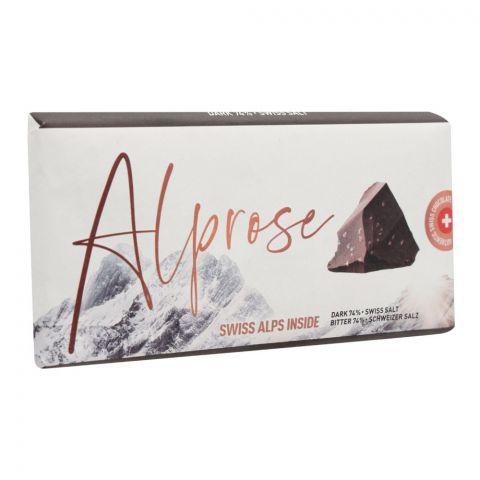 Alprose Swiss Alps Inside 74% Dark Swiss Salt Chocolate Bar, 100g