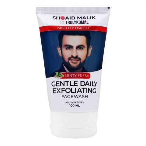 Shoaib Malik By Truly Komal Mighty Bright Minty Fresh Gentle Daily Exfoliating Face Wash, All Skin Types, 100ml