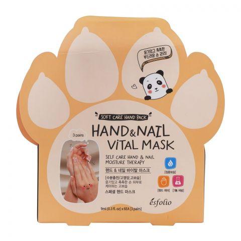 Esfolio Hand & Nail Vital Mask, 3 Pairs, 9ml