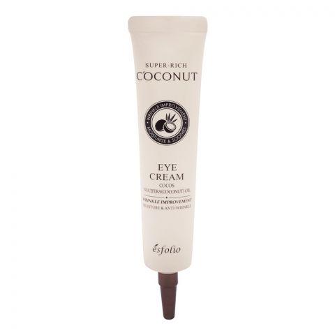 Esfolio Super-Rich Coconut Eye Cream, Wrinkle Improvement, 40ml