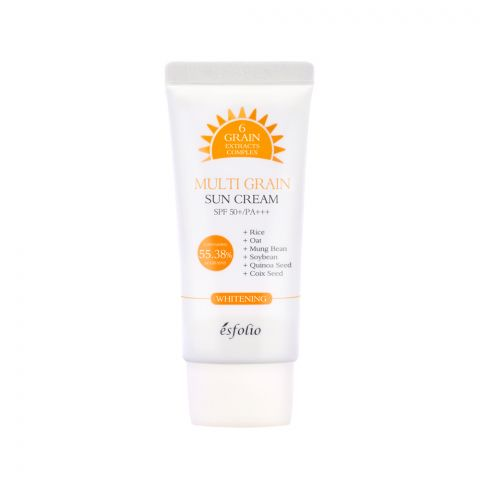 Esfolio Multi Grain Sun Cream, Whitening & Anti-Wrinkle, PA+++, SPF 50+, 50g
