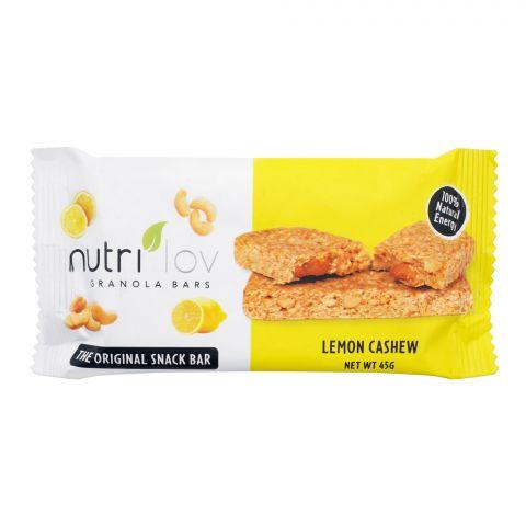 Nutri Lov Granola Bars, Lemon Cashew, 45g