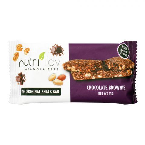 Nutri Lov Granola Bars, Chocolate Brownie, 45g