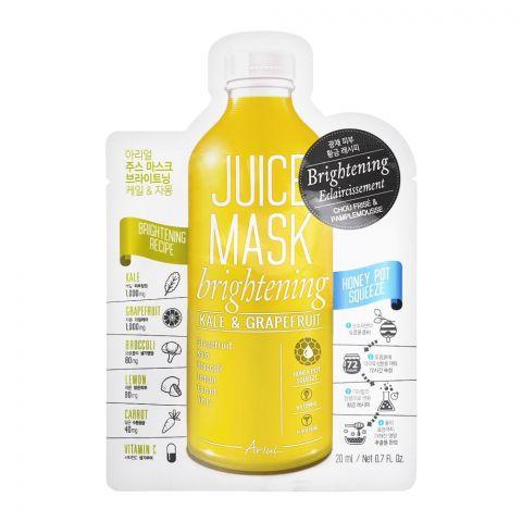 Ariul Brightening Kale & Grapefruit Juice Face Mask, 20ml