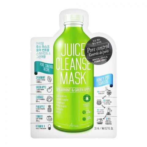 Ariul Pore Control Spearmint & Green Apple Juice Cleanse Face Mask, 20ml