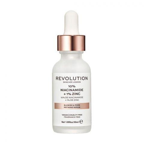 Makeup Revolution Skincare Blemish & Pore Refining Serum, 10% Niacinamide + 1% Zinc, 30ml