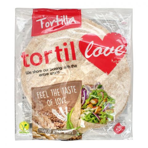 Tortilla Tortil  Whole Wheat Wraps, 12x25cm